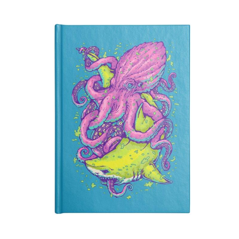 Shark vs Octopus Accessories Notebook by villainmazk's Artist Shop