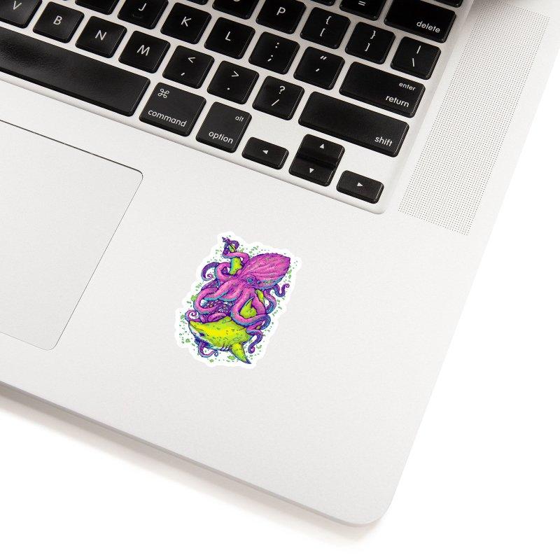Shark vs Octopus Accessories Sticker by villainmazk's Artist Shop