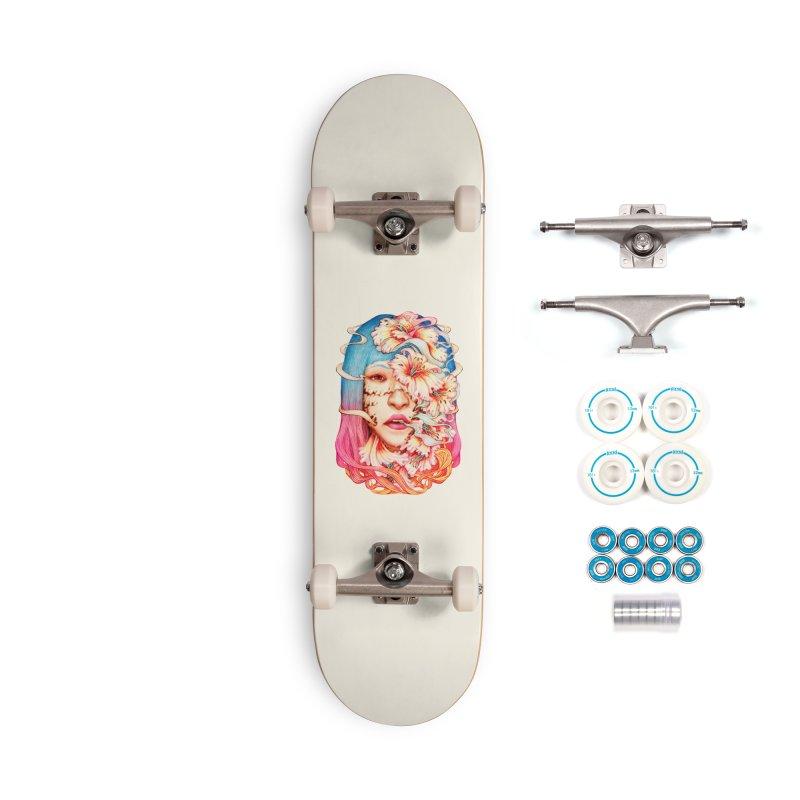 The Shape of Flowers Accessories Skateboard by villainmazk's Artist Shop