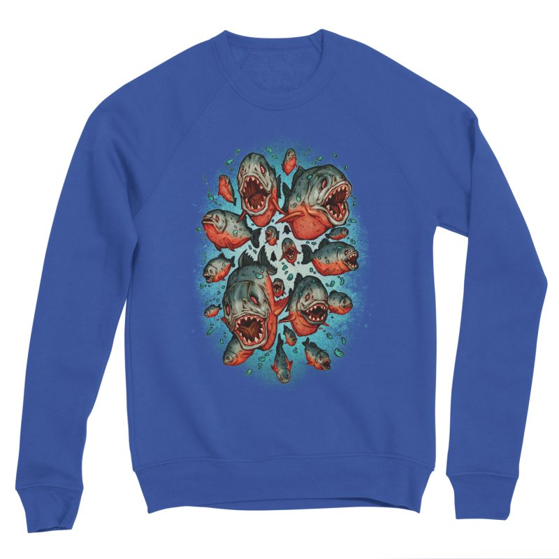 Frenzy Piranhas Women's Sweatshirt by villainmazk's Artist Shop