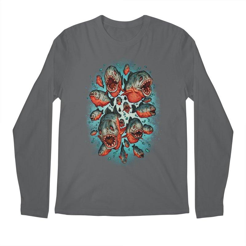 Frenzy Piranhas Men's Longsleeve T-Shirt by villainmazk's Artist Shop