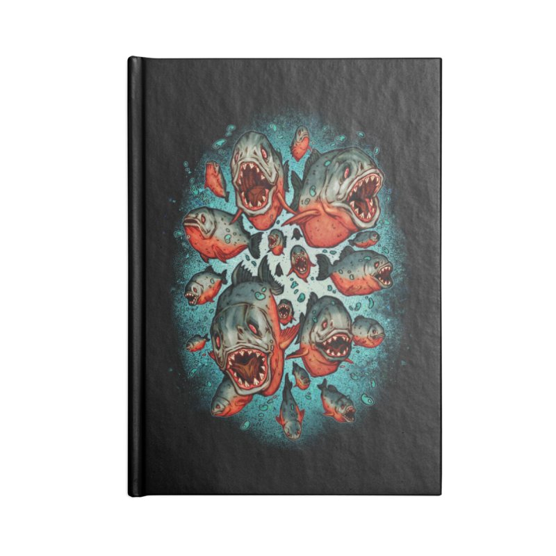 Frenzy Piranhas Accessories Notebook by villainmazk's Artist Shop