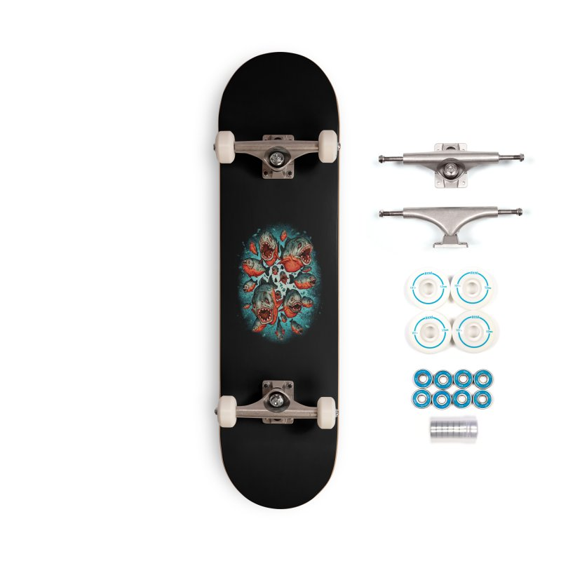 Frenzy Piranhas Accessories Skateboard by villainmazk's Artist Shop