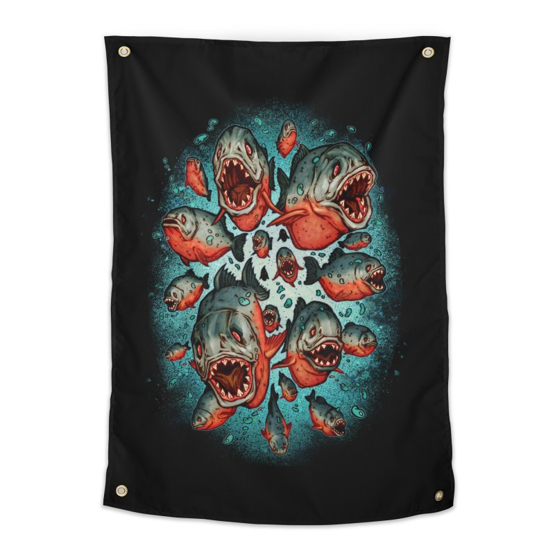 Frenzy Piranhas Home Tapestry by villainmazk's Artist Shop