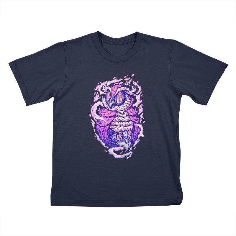Owl Spirit Kids T-Shirt by villainmazk's Artist Shop
