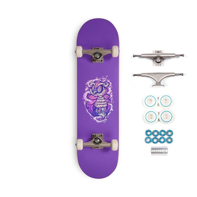 Owl Spirit Accessories Skateboard by villainmazk's Artist Shop
