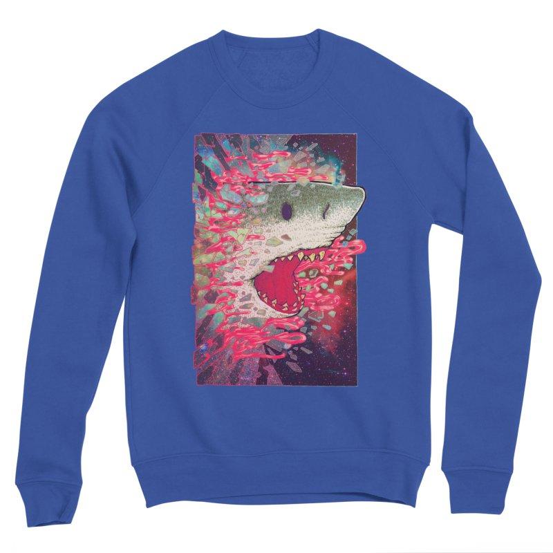 SHARK FROM OUTER SPACE Women's Sweatshirt by villainmazk's Artist Shop