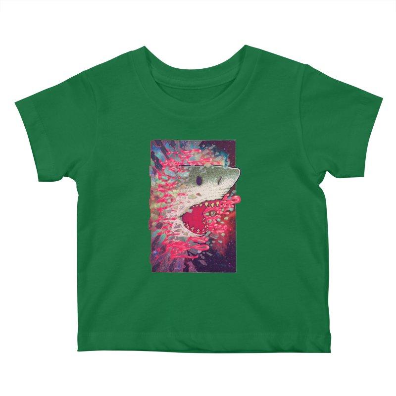 SHARK FROM OUTER SPACE Kids Baby T-Shirt by villainmazk's Artist Shop