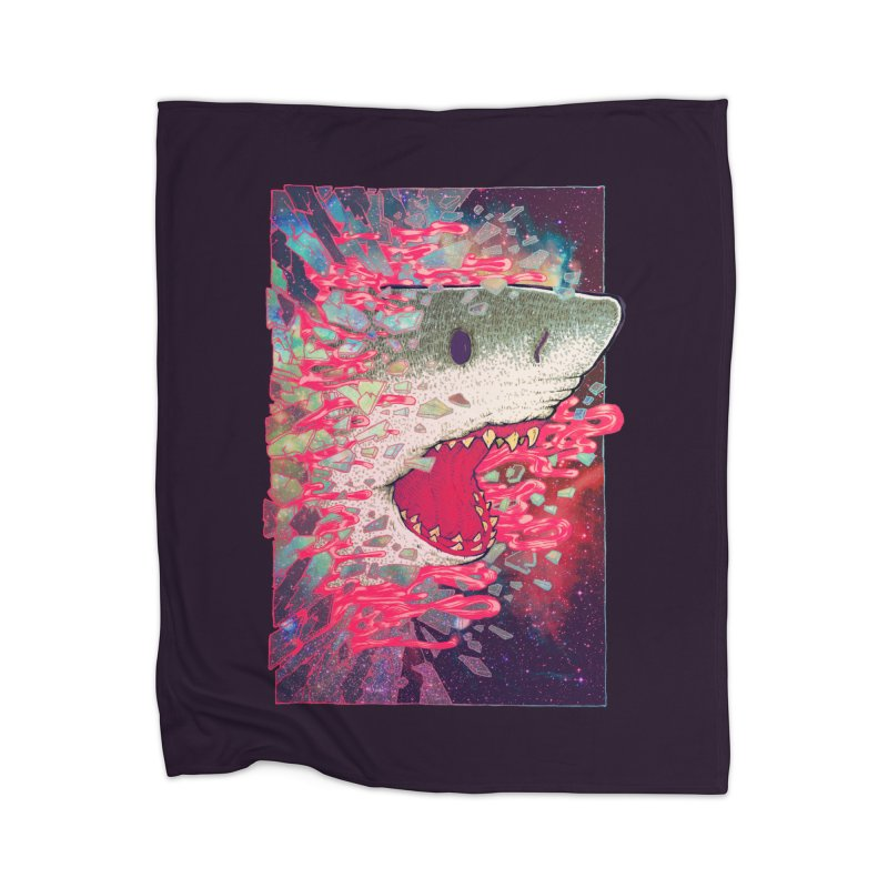 SHARK FROM OUTER SPACE Home Blanket by villainmazk's Artist Shop