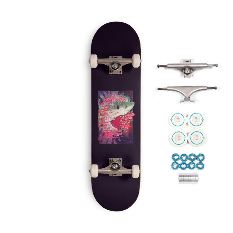 SHARK FROM OUTER SPACE Accessories Skateboard by villainmazk's Artist Shop