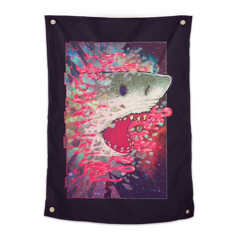 SHARK FROM OUTER SPACE Home Tapestry by villainmazk's Artist Shop