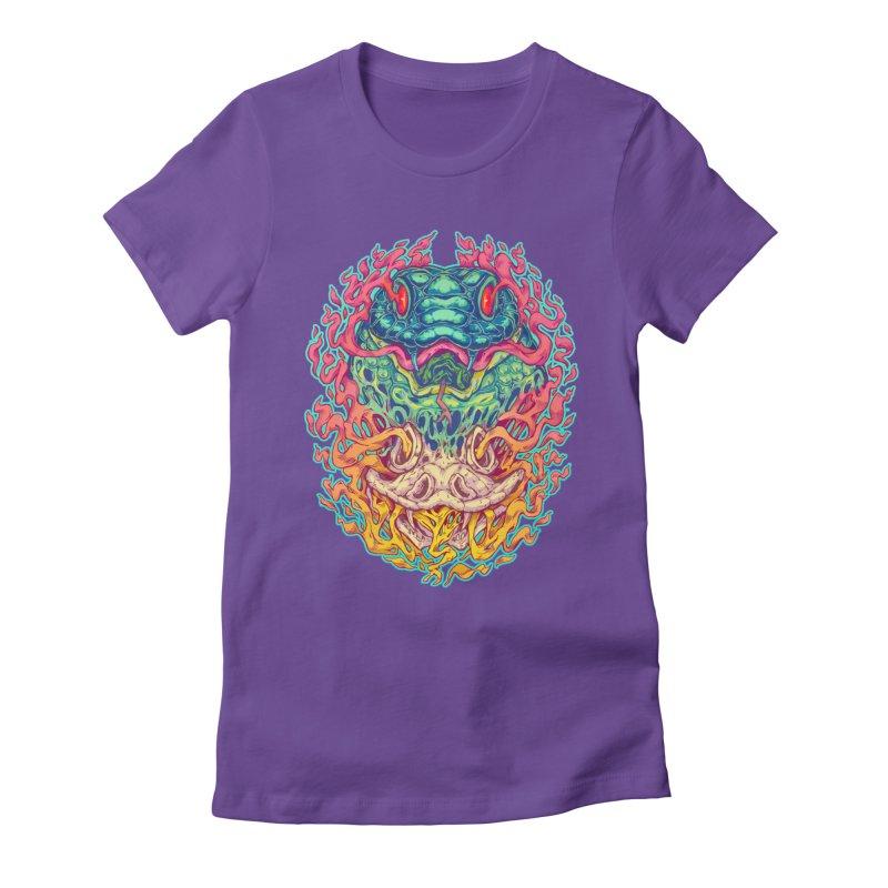 Serpent Revenge Women's Fitted T-Shirt by villainmazk's Artist Shop