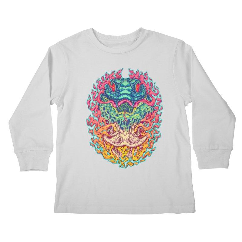 Serpent Revenge Kids Longsleeve T-Shirt by villainmazk's Artist Shop