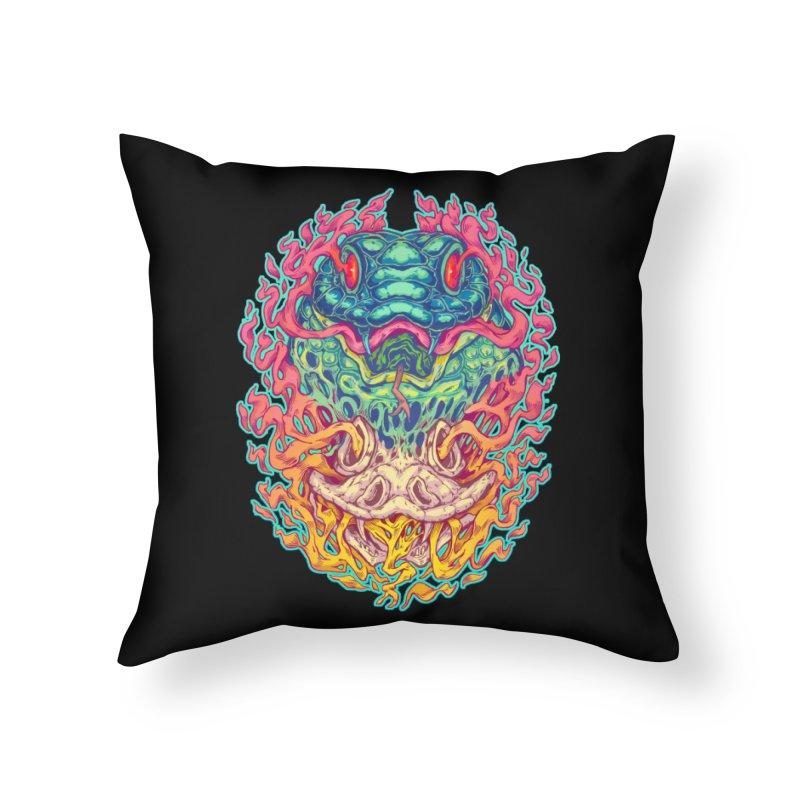 Serpent Revenge Home Throw Pillow by villainmazk's Artist Shop