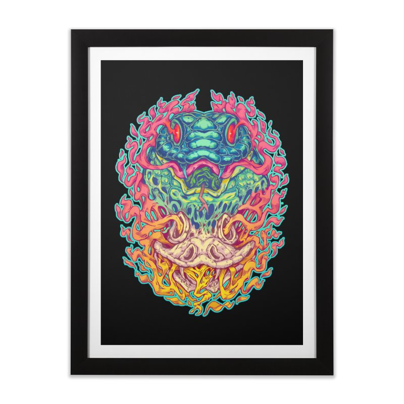 Serpent Revenge Home Framed Fine Art Print by villainmazk's Artist Shop