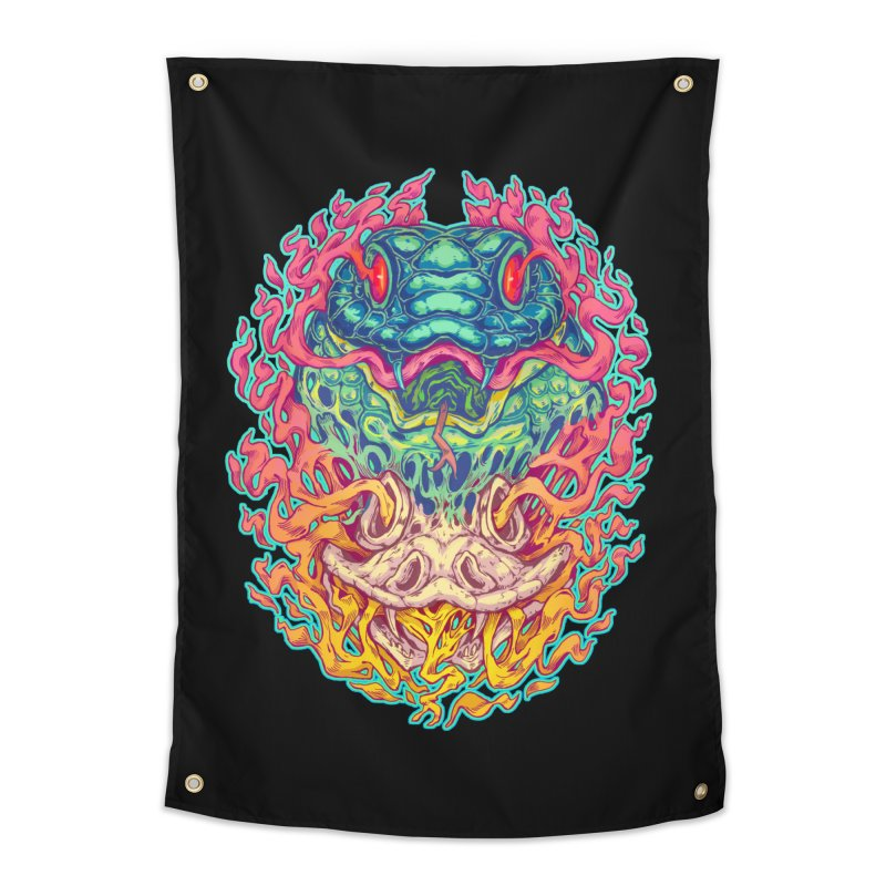 Serpent Revenge Home Tapestry by villainmazk's Artist Shop