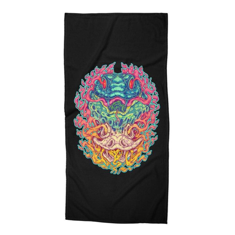 Serpent Revenge Accessories Beach Towel by villainmazk's Artist Shop