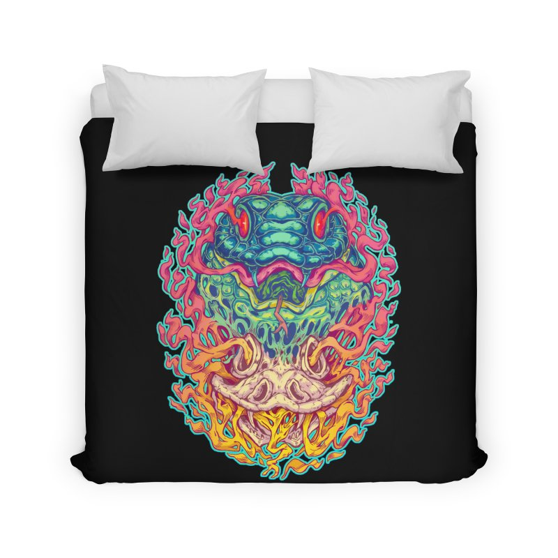 Serpent Revenge Home Duvet by villainmazk's Artist Shop