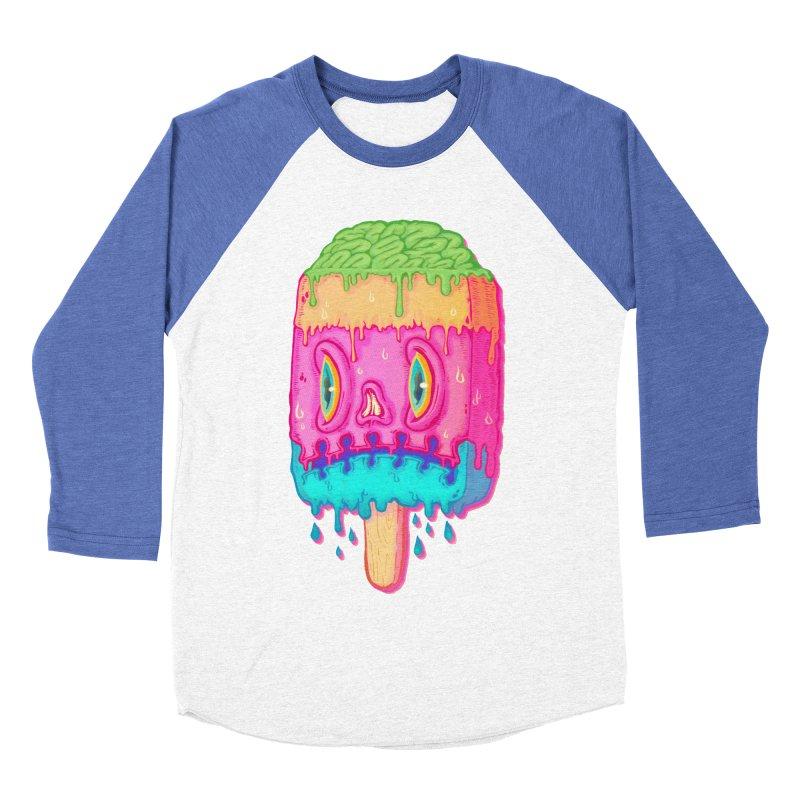 Zombie Icecream Men's Baseball Triblend T-Shirt by villainmazk's Artist Shop
