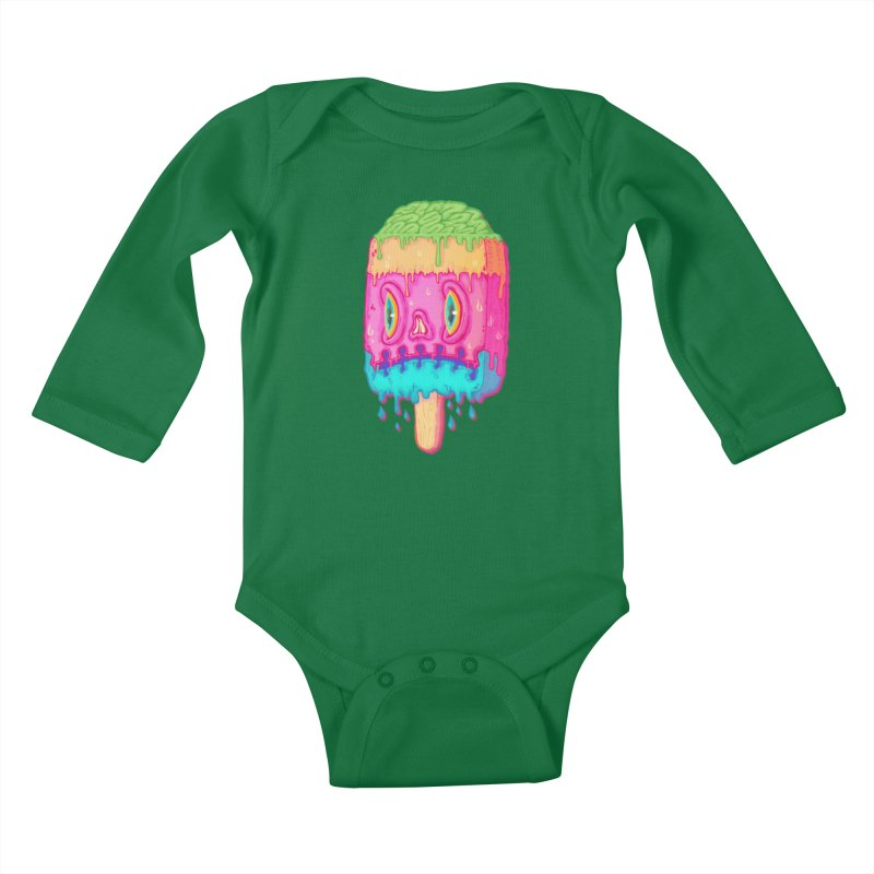 Zombie Icecream Kids Baby Longsleeve Bodysuit by villainmazk's Artist Shop