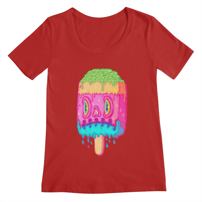 Zombie Icecream Women's Scoopneck by villainmazk's Artist Shop