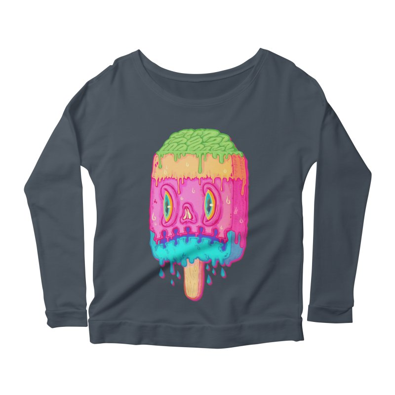 Zombie Icecream Women's Longsleeve Scoopneck  by villainmazk's Artist Shop