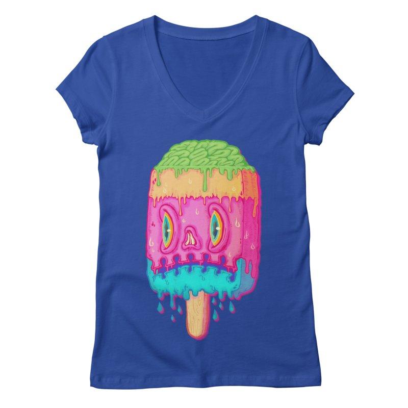 Zombie Icecream Women's V-Neck by villainmazk's Artist Shop