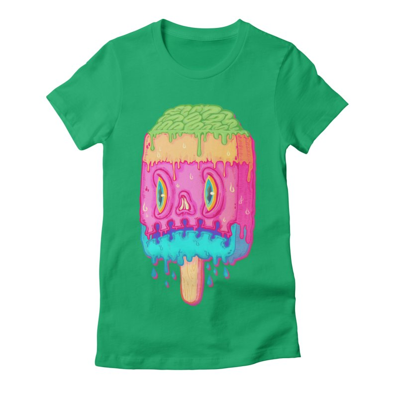 Zombie Icecream in Women's Fitted T-Shirt Kelly by villainmazk's Artist Shop