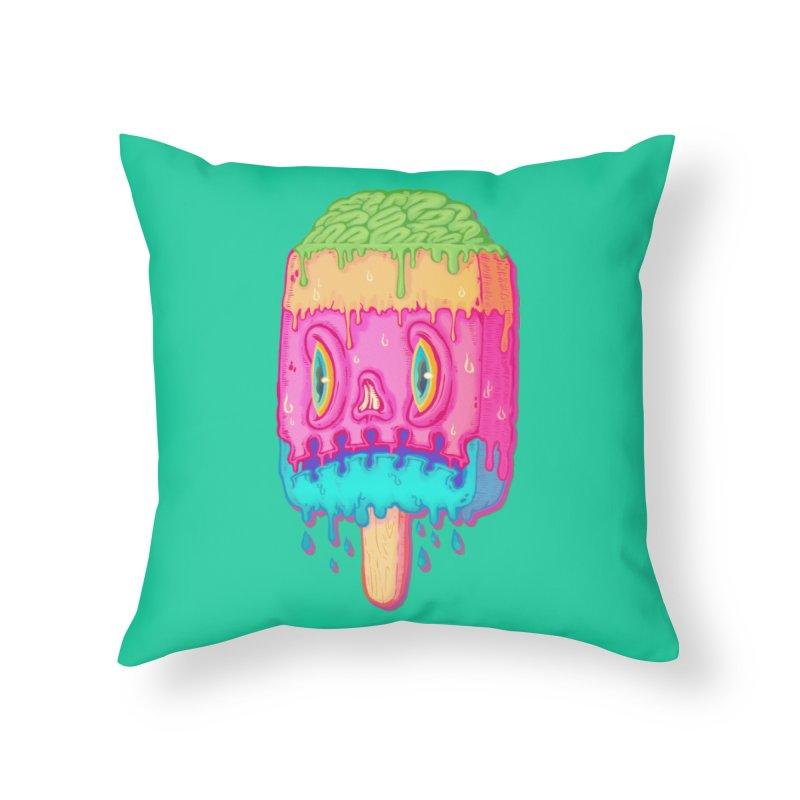 Zombie Icecream Home Throw Pillow by villainmazk's Artist Shop