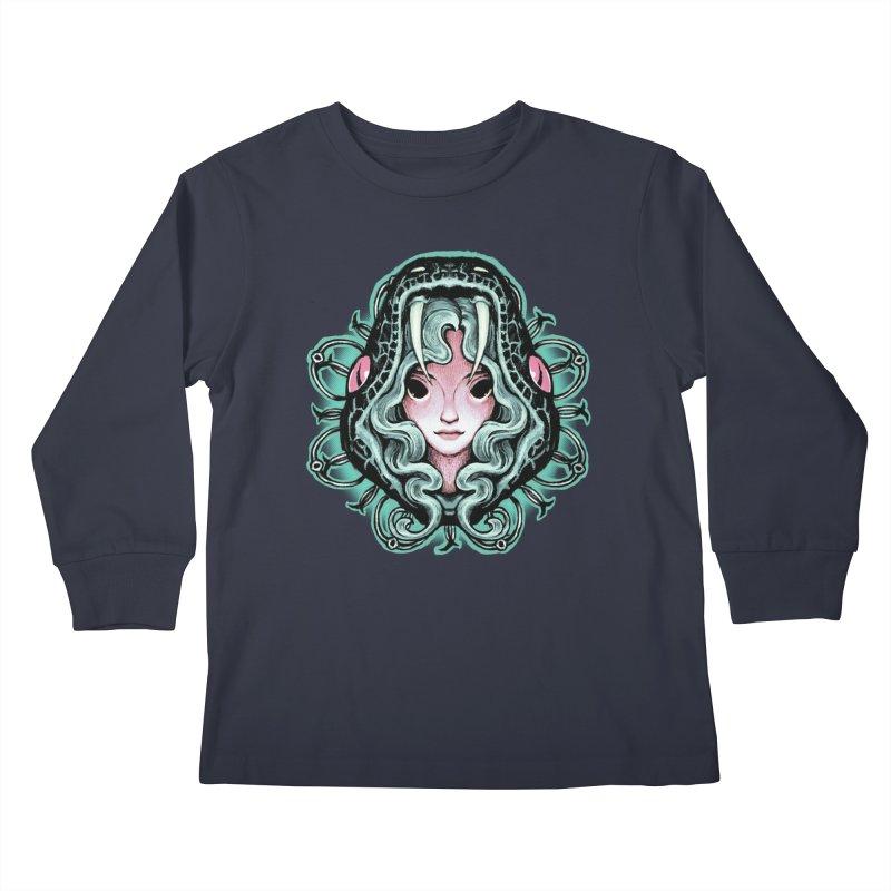 Serpent Girl Kids Longsleeve T-Shirt by villainmazk's Artist Shop