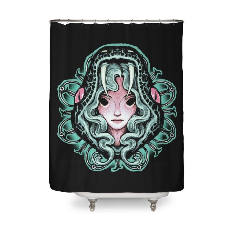 Serpent Girl Home Shower Curtain by villainmazk's Artist Shop
