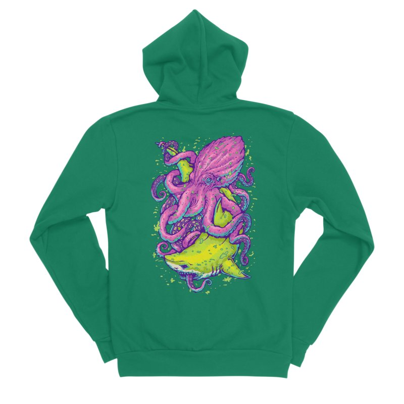 Ocean king Women's Sponge Fleece Zip-Up Hoody by villainmazk's Artist Shop