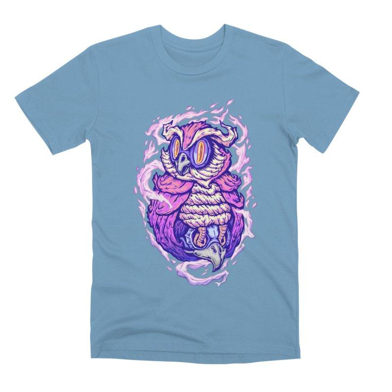 owl spirit Men's Premium T-Shirt by villainmazk's Artist Shop
