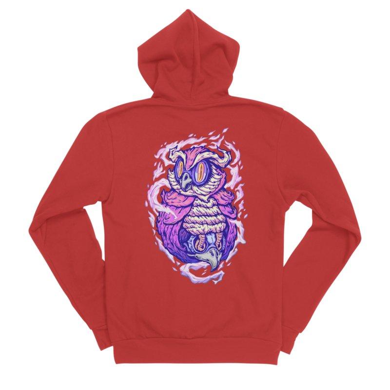owl spirit Women's Sponge Fleece Zip-Up Hoody by villainmazk's Artist Shop