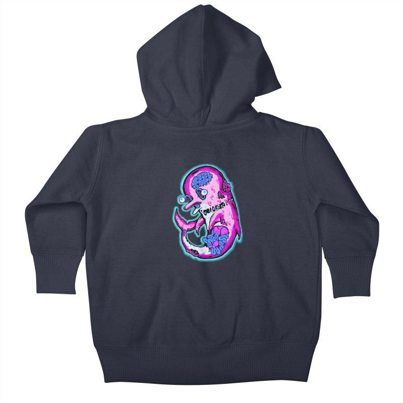 Dead Dolphin Kids Baby Zip-Up Hoody by villainmazk's Artist Shop