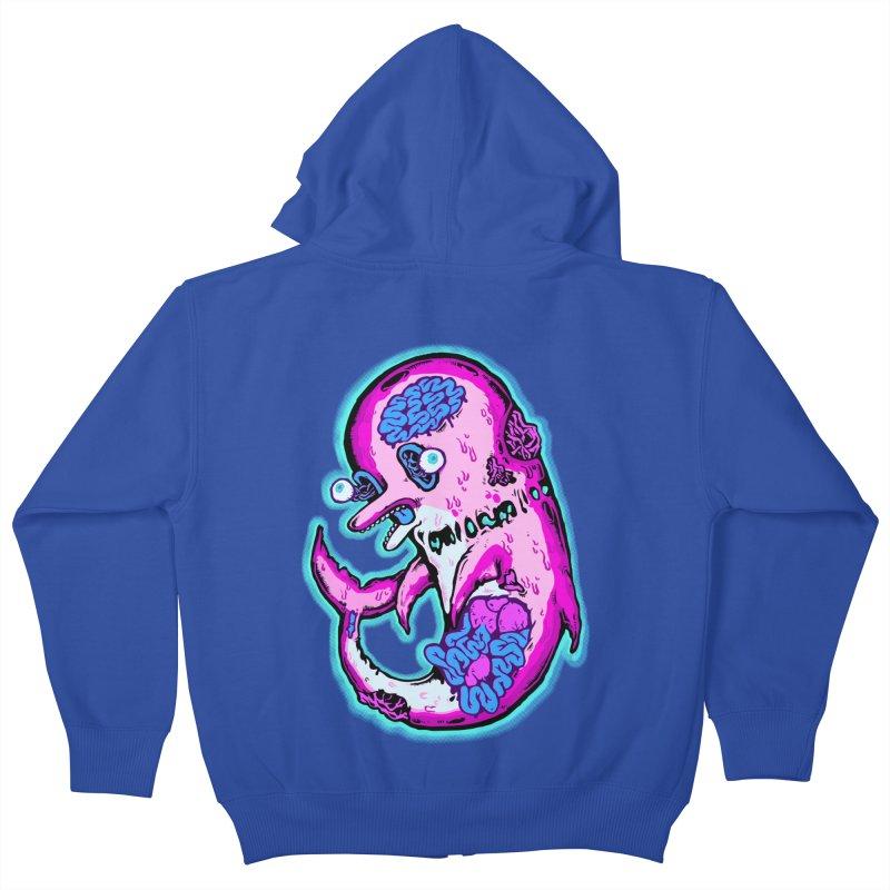 Dead Dolphin Kids Zip-Up Hoody by villainmazk's Artist Shop