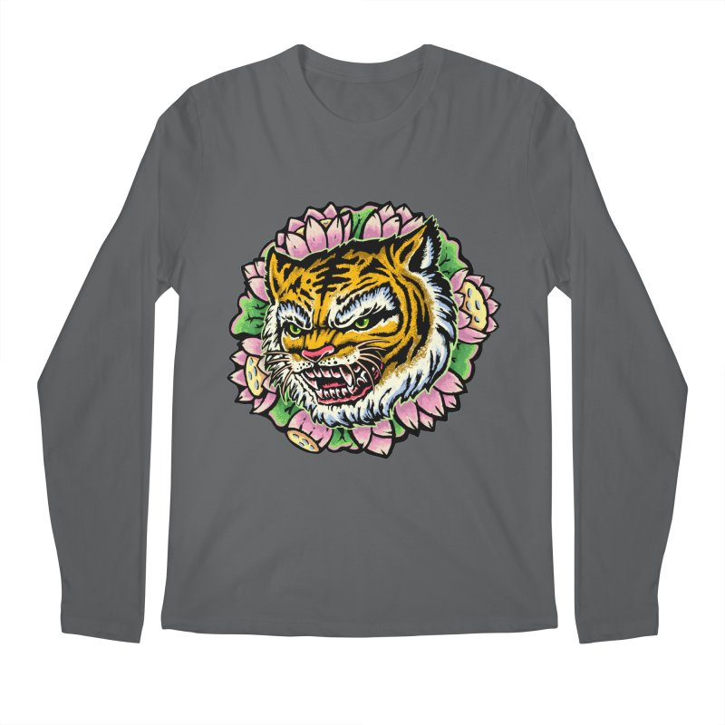 Tiger & Lotus Men's Longsleeve T-Shirt by villainmazk's Artist Shop