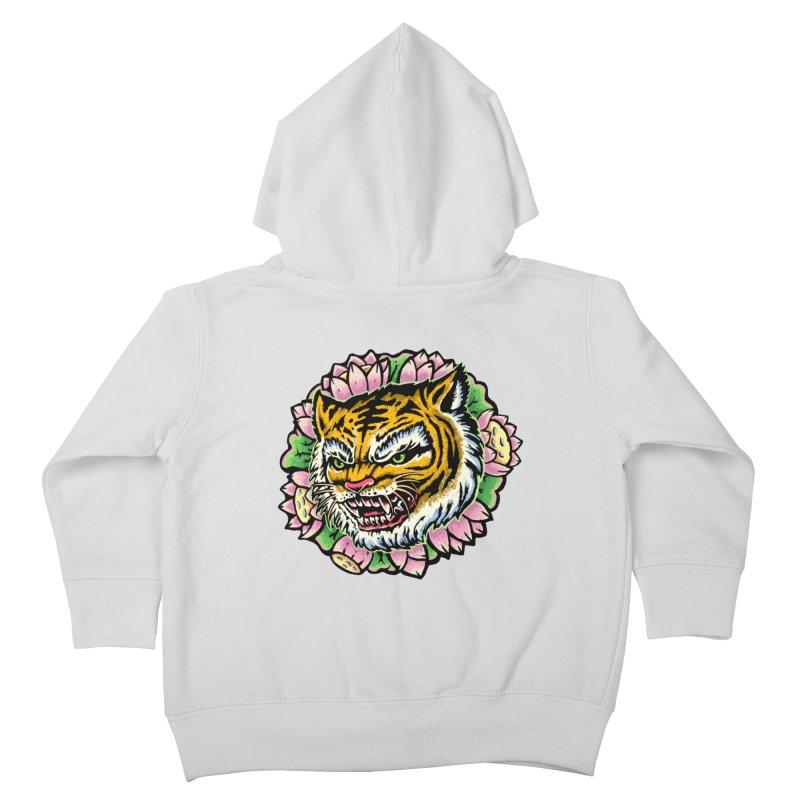 Tiger & Lotus Kids Toddler Zip-Up Hoody by villainmazk's Artist Shop