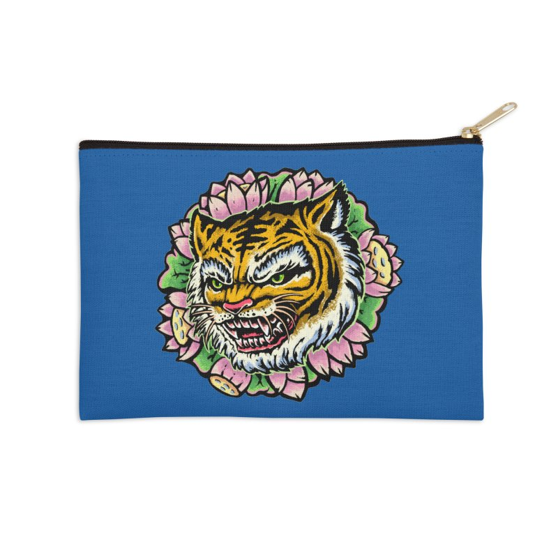 Tiger & Lotus Accessories Zip Pouch by villainmazk's Artist Shop