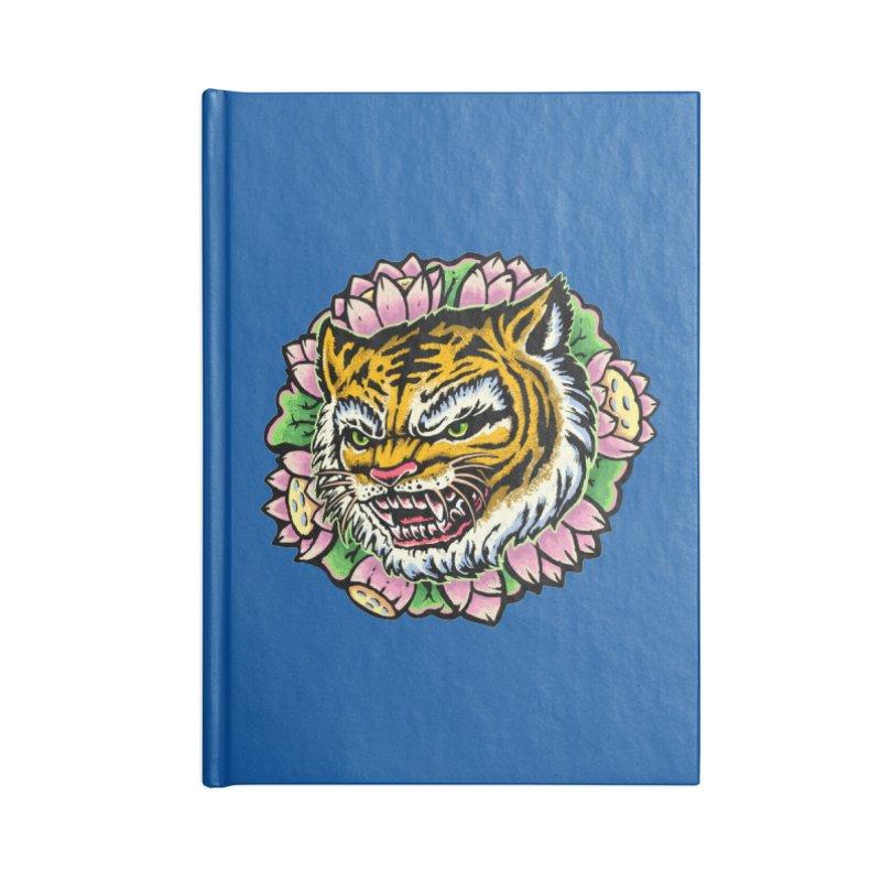 Tiger & Lotus Accessories Notebook by villainmazk's Artist Shop