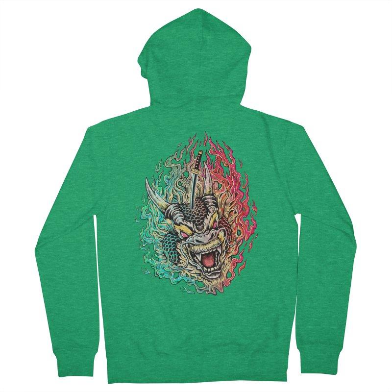 Dragon Slayer Men's Zip-Up Hoody by villainmazk's Artist Shop