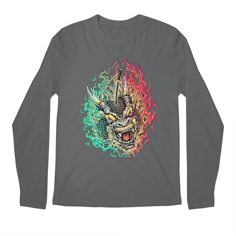Dragon Slayer Men's Longsleeve T-Shirt by villainmazk's Artist Shop