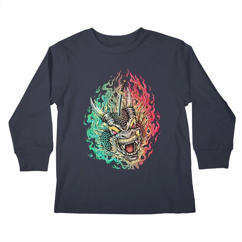 Dragon Slayer Kids Longsleeve T-Shirt by villainmazk's Artist Shop