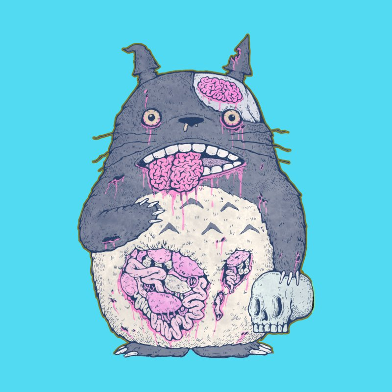 Totoro Undead Women's Fitted T-Shirt by villainmazk's Artist Shop