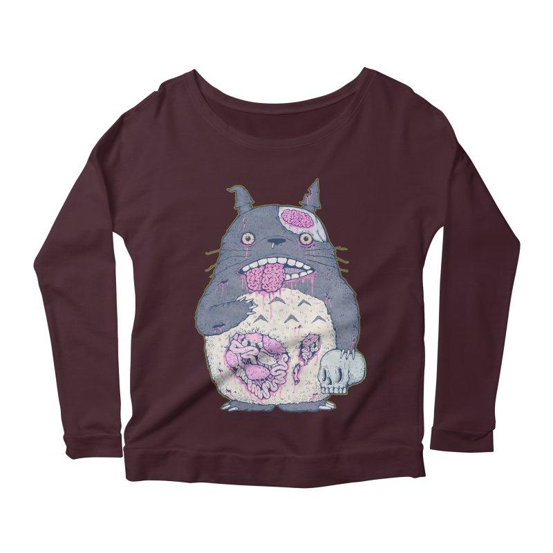 Totoro Undead Women's Longsleeve Scoopneck  by villainmazk's Artist Shop
