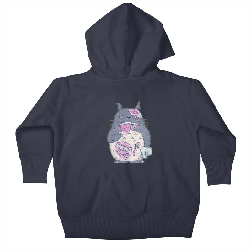 Totoro Undead Kids Baby Zip-Up Hoody by villainmazk's Artist Shop