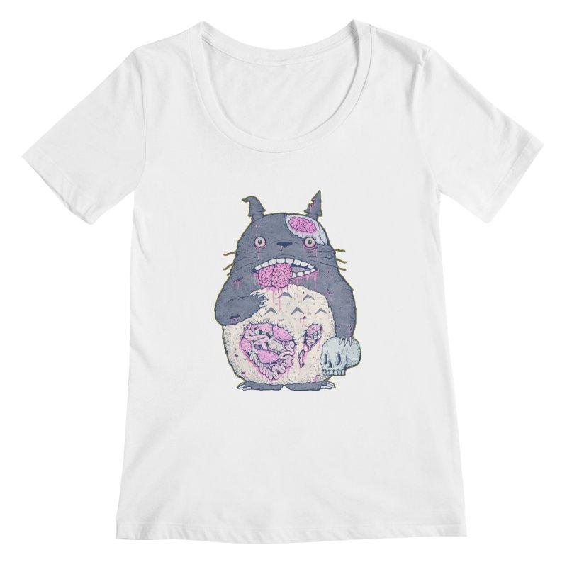 Totoro Undead Women's Scoopneck by villainmazk's Artist Shop