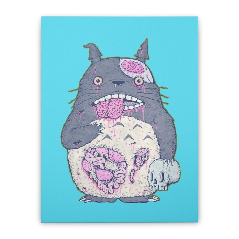 Totoro Undead Home Stretched Canvas by villainmazk's Artist Shop