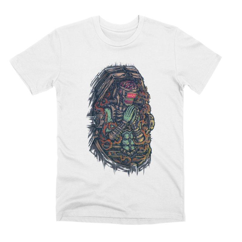 Cyborg Pray Men's T-Shirt by villainmazk's Artist Shop