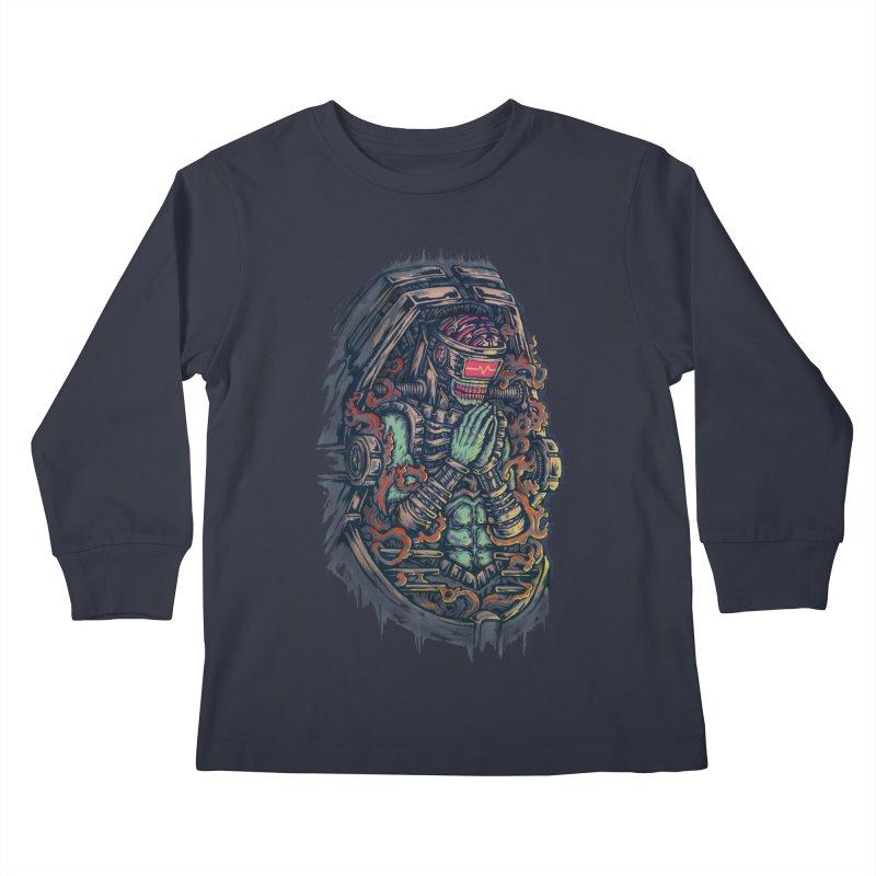 Cyborg Pray Kids Longsleeve T-Shirt by villainmazk's Artist Shop